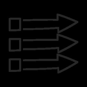 Icon für das blueforte Leistungspotfolio: Machine Driven Analytics. Machine Learning & Automation.