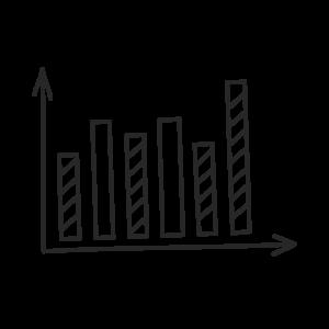 Icon für das blueforte Leistungspotfolio: People Driven Analytics Information Design, Usability, Dashboarding.