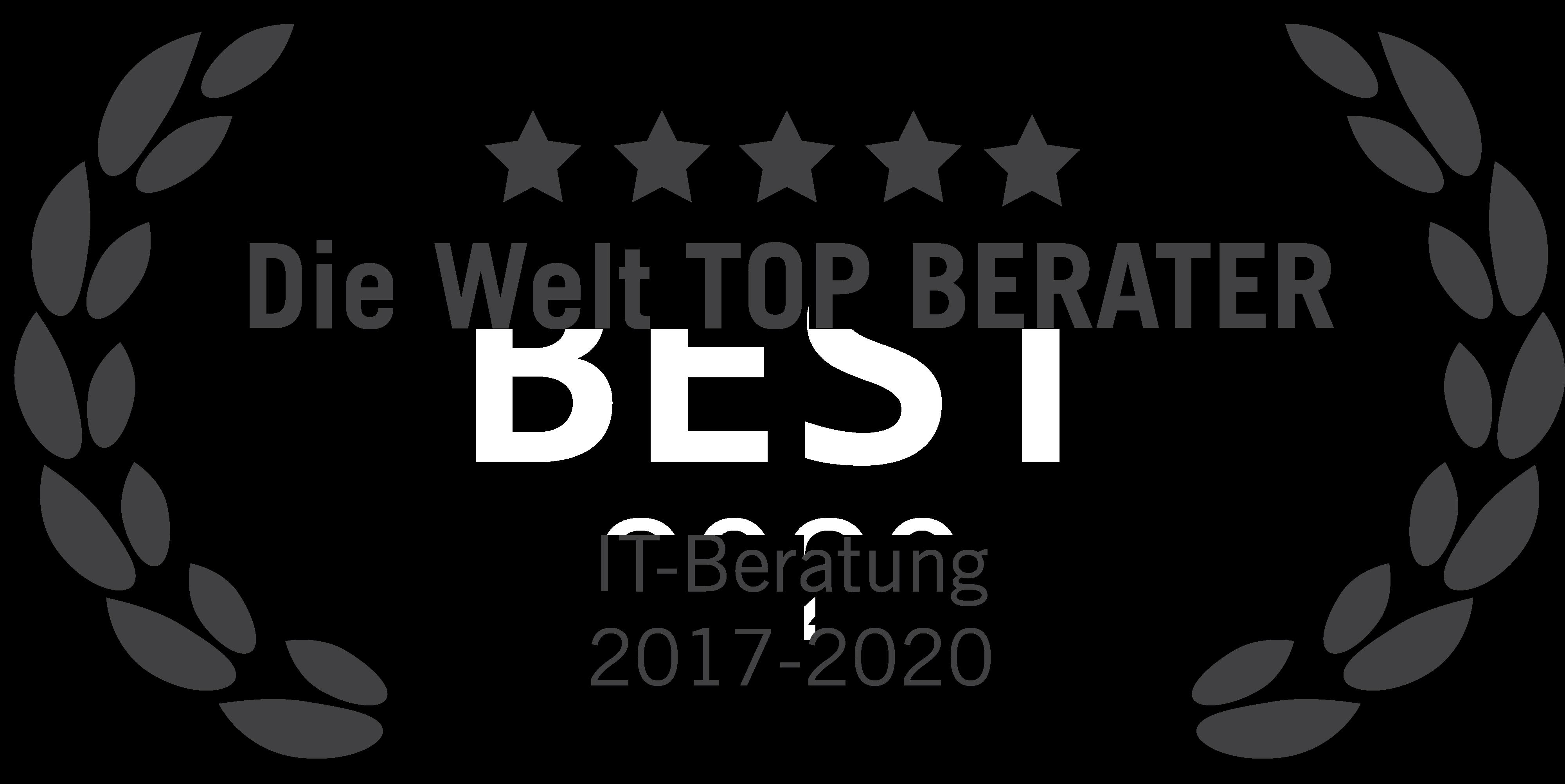 """Zum vierten Mal in Folge schafft es blueforte mit Top- Platzierungen in der Kategorie IT-Beratung auf die Bestenliste von """"DIE WELT Top Berater""""."""