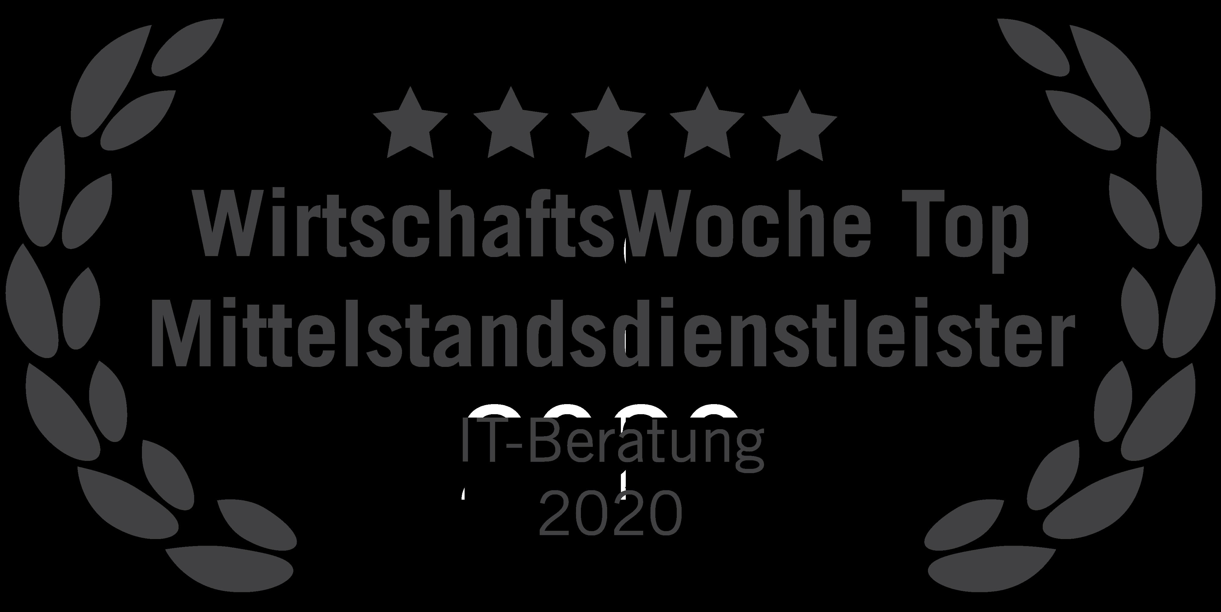 Die WirtschaftsWoche hat blueforte im Wettbewerb um die besten Mittelstandsdienstleister 2020 ausgezeichnet. Das Unternehmen konnte hier in der Kategorie IT-Beratung eine Top-Platzierung erzielen.