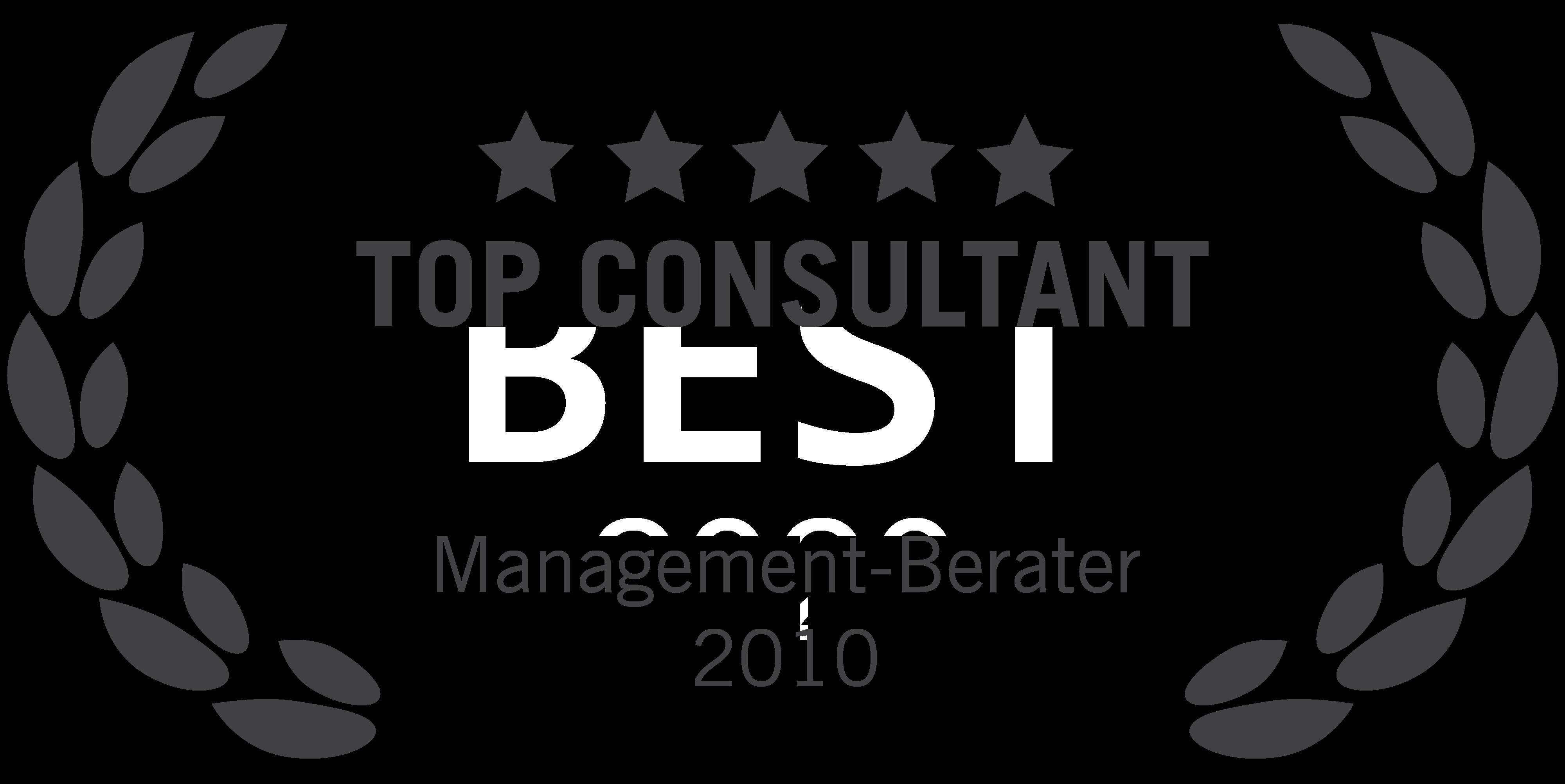blueforte wurde gleich zweifach als TOP CONSULTANT 2010 ausgezeichnet. Der Beratervergleich hat das Unternehmen in den Kategorien IT-Beratung und Management-Beratung mit dem Qualitätssiegel ausgezeichnet.