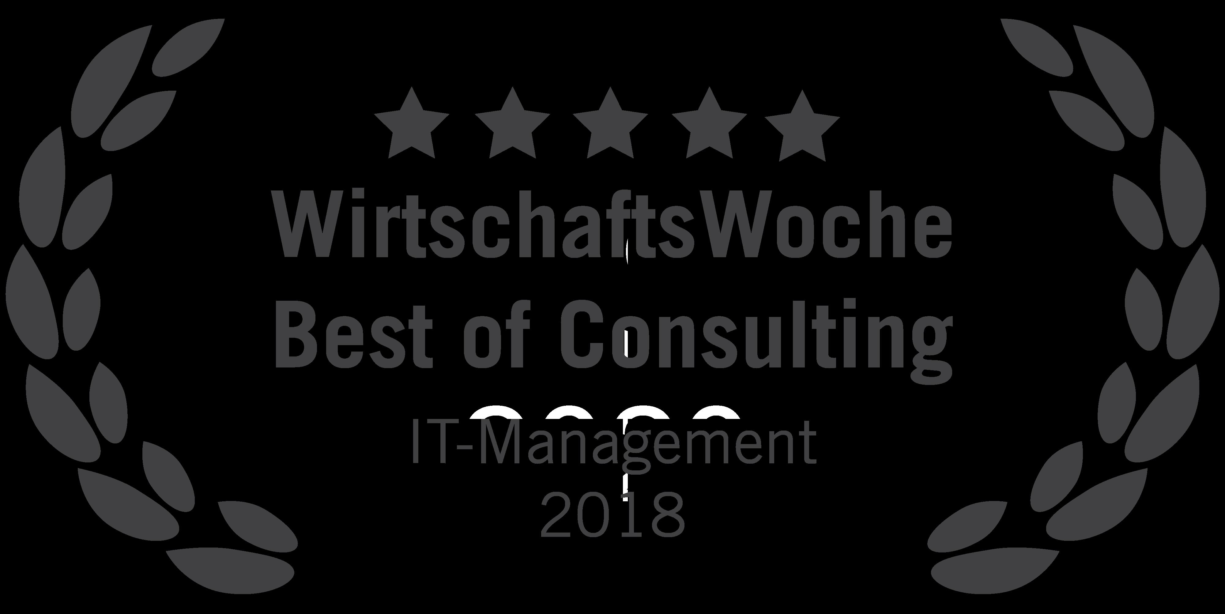 Die WirtschaftsWoche hat die erfolgreichsten Berater in 22 Kategorien ausgezeichnet. blueforte konnte die Kategorie IT-Management mit dem ersten Platz für sich entscheiden.